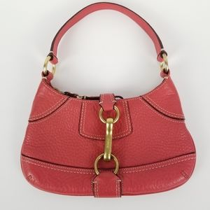 Coach Coral Pebbled Leather Small Bag 10284